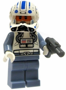 LEGO Star Wars LOOSE Clone Wars Mini Figure Clone Pilot Captain Jag with Blaster Pistol