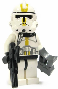 LEGO Star Wars LOOSE Mini Figure EPIII Aayla Secura's Star Corps Clone Trooper [Yellow Markings]