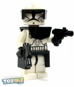 LEGO Star Wars LOOSE Mini Figure EPII Clone Wars Clone Commander with Twin Blaster Pistols