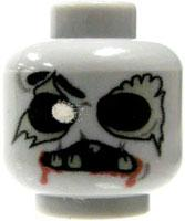 Eclipse Grafx Custom Printed LOOSE HEAD Decaying Zombie Head GRAY