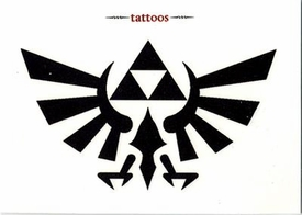 Legend of Zelda Twilight Princess Temporary Tattoo Set #1 Symbol of Hyrule