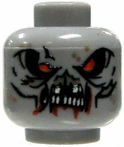 Eclipse Grafx Custom Printed LOOSE HEAD Zombie Horde Head GRAY