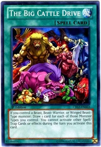 YuGiOh Zexal Cosmo Blazer Single Card Common CBLZ-EN063 The Big Cattle Drive
