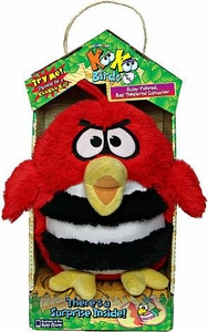 KooKoo Birds 6 Inch Plush Ruby Colored, Bad Tempered Sapsucker