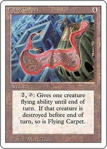 Magic the Gathering Revised Edition Single Card Rare Flying Carpet
