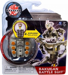 Bakugan Mechtanium Surge Battle Suit Gray Blasterate BLOWOUT SALE!