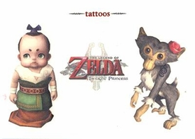 Legend of Zelda Twilight Princess Temporary Tattoo Set #3 Malo & Monkey