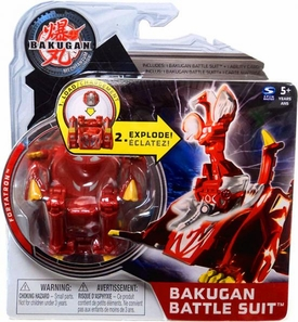 Bakugan Mechtanium Surge Battle Suit Red Fortatron