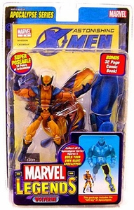 Marvel Legends Series 12 Action Figure Astonishing X-Men Wolverine [Apocalypse Build-A-Figure] Damaged Package, Mint Contents!