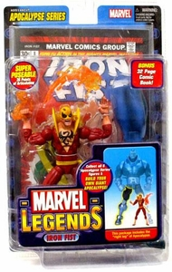 Marvel Legends Series 12 Action Figure Iron Fist {Red Variant} [Apocalypse Build-A-Figure]