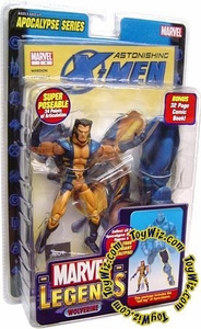 Marvel Legends Series 12 Action Figure Astonishing X-Men Wolverine Unmasked Variant [Apocalypse Build-A-Figure]