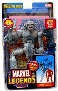 Marvel Legends Series 12 Action Figure Sasquatch White Variant [Apocalypse Build-A-Figure]