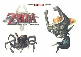 Legend of Zelda Twilight Princess Temporary Tattoo Set #4 Midna & Armogohma