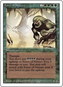 Magic the Gathering Revised Edition Single Card Rare Force of Nature