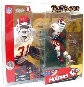 McFarlane Toys NFL Sports Picks Series 6 Action Figure Priest Holmes (Kansas City Chiefs) White Jersey