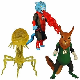 Green Lantern Classics Series 2 Action Figure B'dg, Dex-Starr & Despotellis [Build Stel Piece]