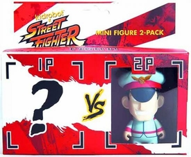 KidRobot Street Fighter Collectible Vinyl 3 Inch Mini Figure 2 Pack M Bison [Includes 1 Mystery Figure]