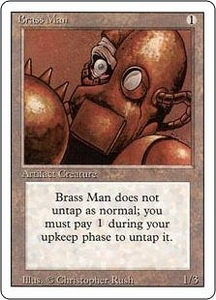 Magic the Gathering Revised Edition Single Card Uncommon Brass Man