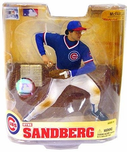 McFarlane Toys MLB Cooperstown Series 5 Action Figure Ryne Sandberg (Chicago Cubs) Blue Jersey / Red Bill on Hat Variant