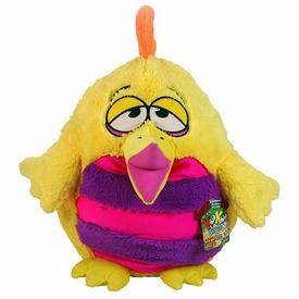KooKoo Daddy Birds 12 Inch DELUXE Plush Orange Crested, Bug Eyed Fezziwig [with Sound!]