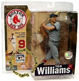McFarlane Toys MLB Cooperstown Series 4 Action Figure Ted Williams (Boston Red Sox) Gray Uniform Variant