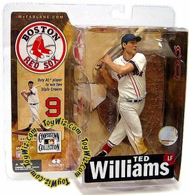 McFarlane Toys MLB Cooperstown Series 4 Action Figure Ted Williams (Boston Red Sox) White Uniform