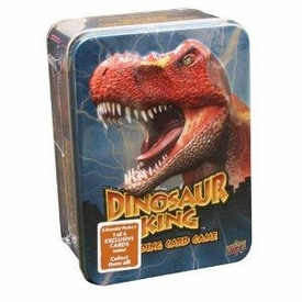 Dinosaur King Trading Card Game Exclusive Blue Collectors Tin [6 Booster Packs + 1 Exclusive Card!]
