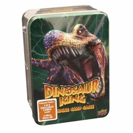 Dinosaur King Trading Card Game Exclusive Green Collectors Tin [6 Booster Packs + 1 Exclusive Card!]
