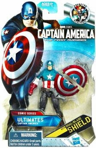 Captain America Movie 4 Inch Action Figure #01 Ultimates Captain America [Dual Blade Shield]