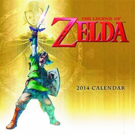 Legend of Zelda 2014 16 Month Wall Calendar Pre-Order ships April