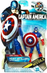 Captain America Movie 4 Inch Action Figure #02 Heavy Artillery Captain America [Launching Missile]