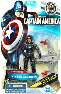 Captain America Movie 4 Inch Action Figure #04 Winter Soldier [Snap Open Jet Pack]