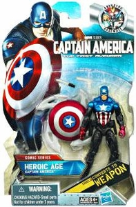 Captain America Movie 4 Inch Action Figure #05 Heroic Age Captain America [Shield Converts to Weapon]