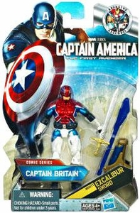 Captain America Movie 4 Inch Action Figure #06 Captain Britain [Mighty Excalibur Sword]