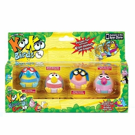 Kookoo Birds Flocked Koollectibles Mini Figure 4-Pack [RANDOM Birds]