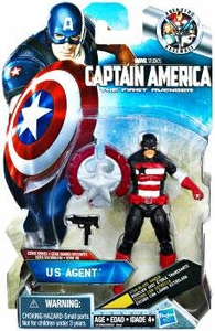 Captain America Movie 4 Inch Action Figure #09 US Agent [Star Blade Shield]