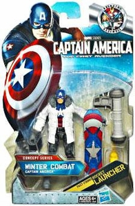 Captain America Movie 4 Inch Action Figure #11 Winter Combat Captain America [Fast Firing Rocket Launcher]