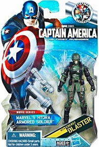Captain America Movie 4 Inch Action Figure #12 Marvel's Hydra ARMORED Soldier [Dark Green with Black Gloves & Boots]