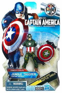 Captain America Movie 4 Inch Action Figure #13 Jungle Trooper Captain America