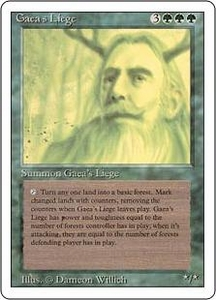 Magic the Gathering Revised Edition Single Card Rare Gaea's Liege