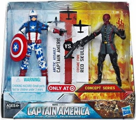 Captain America Movie Exclusive 4 Inch Action Figure 2-Pack Captain America [Arctic Assault] & Red Skull [Cosmic Fire]