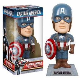 Funko Wacky Wobbler Bobble Head Captain America [Movie Version]