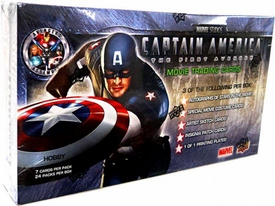 Upper Deck Captain America The First Avenger Movie Trading Cards Hobby Box [24 Packs]