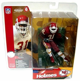 McFarlane Toys NFL Sports Picks Series 6 Action Figure Priest Holmes (Kansas City Chiefs) Red Jersey Red Pants Variant