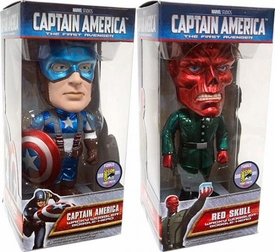 Funko SDCC 2011 San Diego Comic-Con Exclusive Set of Both Captain America Movie Wacky Wobbler Bobble Heads [Captain America & Red Skull] Only 480 Made!
