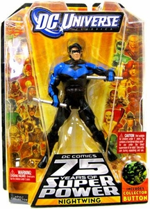 DC Universe Classics 75 Years of Super Power Action Figure Nightwing {Blue & Black} [Includes Collector Button]
