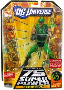 DC Universe Classics 75 Years of Super Power Action Figure Green Arrow [Includes Collector Button]