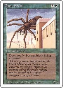 Magic the Gathering Revised Edition Single Card Common Giant Spider