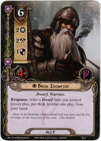 Lord of the Rings: The Card Game [LCG] Core Set Single Card Rare #19 Brok Ironfist