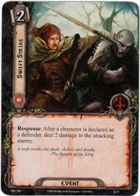 Lord of the Rings: The Card Game [LCG] Core Set Single Card Rare #37 Swift Strike